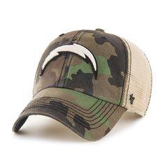 San Diego Chargers 47 Brand Green Howitzer Camo Burnett Mesh Adjustable Hat  Cap 9967657d2
