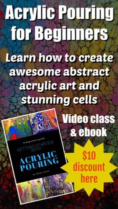 If you would love to get involved in the craze of acrylic pouring art and make your own stunning abstract…