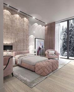 Luxury Bedroom Design, Room Design Bedroom, Girl Bedroom Designs, Room Ideas Bedroom, Home Room Design, Home Decor Bedroom, Luxury Kids Bedroom, Interior Design, Stylish Bedroom