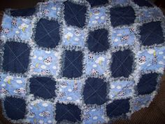Hi please come have a look at my rag quilt, it has the cow jumping over the moon, on it :) Country Quilts, Quilts For Sale, Over The Moon, Rag Quilt, Baby Size, Making Out, Etsy Shop, Blanket, Sewing