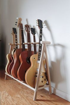 Yvonne Mouser Guitar Stand You are in the right place about make up room studio dreams Here we offer Guitar Storage, Guitar Rack, Guitar Hanger, Home Music Rooms, Music Studio Room, Studio Studio, Guitar Design, Room Decor, Diy Guitar Stand