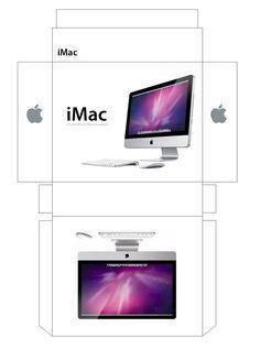 iMac Box Papercraft by facundoneglia