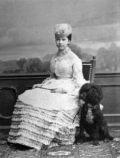 Gisela with her dog