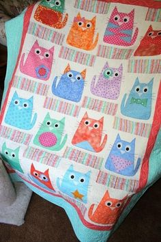 Cat quilt.  Bet Kelly would like this!
