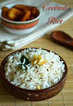 Coconut Rice Recipe - Thengai Sadam Recipe | Sharmis Passions