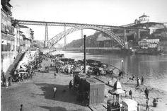 RIBEIRA – FOTO BELEZA Sydney Harbour Bridge, Train, 1950s, Industrial Revolution, Pictures, Strollers