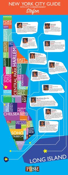 Infographic: New York City guide with SNL city correspondent Stefon