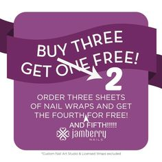 August 25th special PROMO today only!!  You will love Jamberry nails and now is a great time to take advantage of an amazing special.  You buy 3, and get 1 free and I'll throw in a second free wrap!!  Browse and shop here: http://juliep.jamberrynails.net/shop  (choose VIP orders as your party)