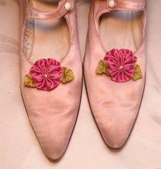 Pomegranate Pink Pansy Shoe Clips by ClytemnestrasCloset on Etsy