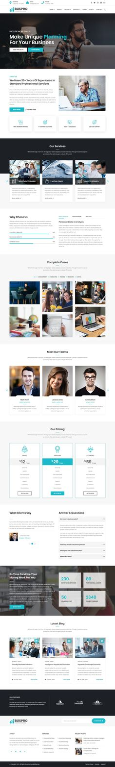 Buy Buspro - Multipurpose Business and Corporate Template by validthemes on ThemeForest. Buspro – Multipurpose Business and Corporate Template Buspro is a Responsive quick and easy customizable Modern Multi. Web Design Inspiration, Design Ideas, App Design, Restaurant Website Design, Business Website Templates, Web Design Projects, Grid Layouts, Fitness Design, Ui Web