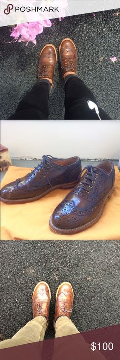Dune Oxford Brogue Shoes This is for those who love timeless fashion pieces! Lovely brogue shoes from Dune London, real leather in a beautiful medium chestnut color. Worn these maybe less than 10 times, so they're in very good condition. Might need a bit more breaking in though! But seriously, they're so well made, and GOODYEAR WELTED meaning the shoes' soles will last for a long time and won't get your feet wet. A good investment to make. SIZE 38. Comes with a sweet orange dust bag. Dune…