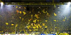 Yellow Wall by Borussia Dortmund supporters #dortmund #football