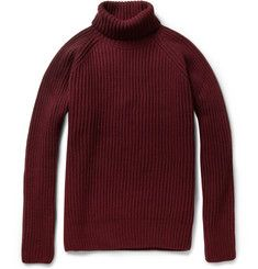 Ami Ribbed Merino Wool-Blend Sweater