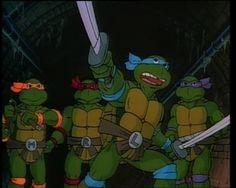 Teenage Mutant Ninja Turtles! I remember getting so excited for Saturday morning cartoons.
