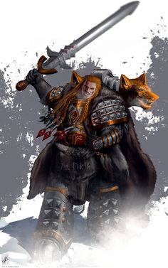 Leman Russ, Primarch of the Space Wolves, Wolf King of Fenris, and Executioner of the Emperor