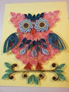 Beautiful Paper Art – Quilling happy owl