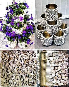 Diy garden decor, Diy home decor projects, Diy garden, Garden crafts, Diy hom. Diy Crafts Slime, Slime Craft, Diy Crafts Hacks, Diy Garden Projects, Garden Crafts, Diy Garden Decor, Yard Art Crafts, Tin Flowers, Flower Boxes