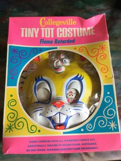 Vintage NOS 1978 Collegeville Babs Bunny Warner Bros. Tiny Tot Halloween Costume #Collegeville #Halloween Halloween Masks, Warner Bros, Bunny, Fabric, Vintage, Art, Tejido, Art Background, Cute Bunny