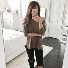 Pullover and jeans