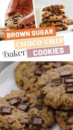 Make the best soft and chewy chocolate chip cookie together with your little one! Baking this brown sugar chocolate chip cookie recipe has never been this easy and tasty with a slight twist from a classic flavor. Make this easy recipe today! Brown Sugar Chocolate Chip Cookie Recipe, Choco Chips, Chewy Chocolate Chip Cookies, Raisin Cookies, Chocolate Chip Oatmeal, Homemade Chocolate, Oatmeal Cookies, Brown Sugar Cookies, Chocolate Color