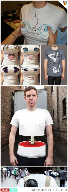 20 of the Most Imaginative and Innovative T-shirt Designs #tshirts #clothing #fashion #designs #humour #ideas