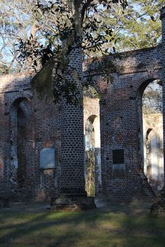 ruins of Sheldon Church in Beaufort, SC.