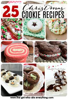 Be prepared for your mouth to water when you feast your eyes on these 25 Christmas Cookie Recipes!  Boy oh boy, Christmas is just not complete without a huge assortment of cookies, amiright?? It's Dia