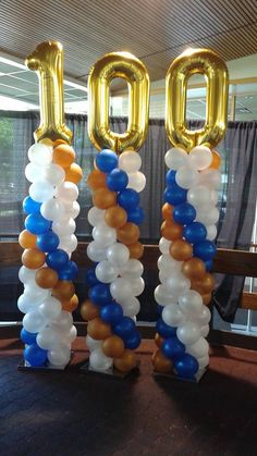 Would be great for any anniversary. Happy Birthday, R Pastor Anniversary, Anniversary Dinner, Balloon Columns, Balloon Arch, White Flower Centerpieces, Table Centerpieces, Anniversary Centerpieces, Rotary Club, Birthday Photos
