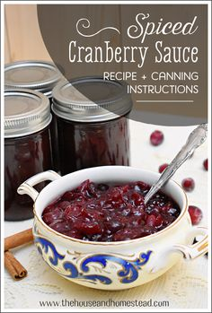 Spiced Homemade Cranberry Sauce Recipe ( Canning Instructions) | The House & Homestead Canned Cranberry Sauce, Buy Store, Elderberry Syrup, Homemade Christmas Gifts, Herbal Medicine, International Recipes, Herbal Remedies, Homestead