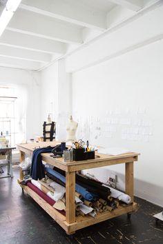 Cutting table w/ storage underneath