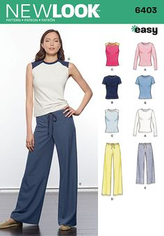 Shop our range of New Look Sewing Patterns. Get inspired to create with New Look 6403 Misses' Easy Separates. New Look Patterns, Sewing Patterns Free, Clothing Patterns, Fabric Patterns, Clothing Ideas, Love Sewing, Sewing For Kids, Sewing Machine Embroidery, Sewing Stitches