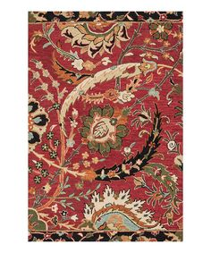 Another great find on #zulily! Red & Gold Mayfield Wool Rug by Loloi Rugs #zulilyfinds