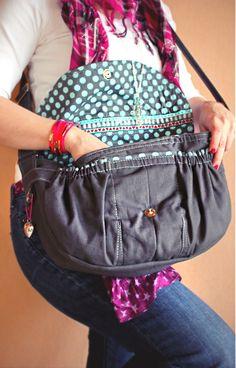"""Dame"" shoulder bag [Umhänge-Tasche]  #farbenmix #taschenspieler"