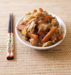 Wok de dinde aux carottes, miel et gingembre