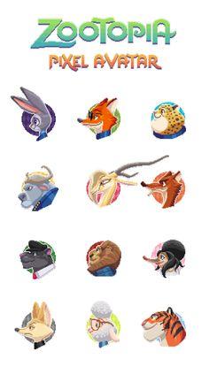 Zootopia pixel avatars!