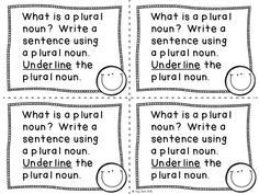 Plural Nouns - Exit tickets - I love making copies of them and having the kids write their answers on the back.  It's great feedback for me and parents love to read them!