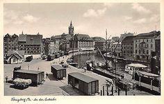 Lastadie in Königsberg Preussen Dampfer, Zug, Eisenbahn Postkarte 1941
