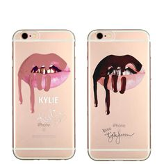 Sexy Graffiti Girl Kylie Lips Cover Case For iPhone 7 7Plus 6 6S 6Plus 5 5S SE 6SPlus Phone Case Transparent Hard plastic Cover