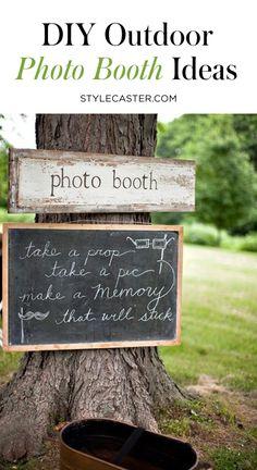 33 diy photo booth ideas for outdoor entertaining Diy Photo Booth, Wedding Photo Booth, Photo Booth Backdrop, Photo Props, Outdoor Photo Booths, Outdoor Photos, Birthday Photo Booths, Birthday Photos, Family Reunion Photos