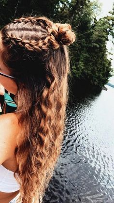 Cute Hairstyles For Teens, Sporty Hairstyles, Easy Hairstyles For Long Hair, Hairstyles For School, Summer Hairstyles, Cool Hairstyles, Athletic Hairstyles, Hairstyles 2018, Beautiful Hairstyles