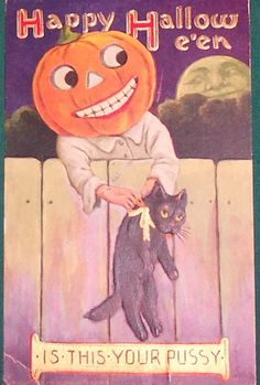 This:   22 Truly Bizarre Vintage Halloween Postcards