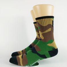 Men's  Typical Camouflage Skate  Socks USA Size 7-9,Euro Size 40-42