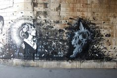 street art by snik | finbarr snik these walls are part of the vitry jam artist finbarr snik ...