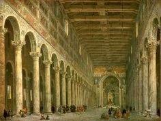 Interno della Chiesa di San Paolo Fuori le Mura, Roma Giovanni Paolo Pannini