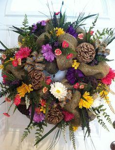 Burlap+Wreath+Spring+Wreath+Summer+Wreath+by+JAZZYWREATHSINTEXAS,+$149.00