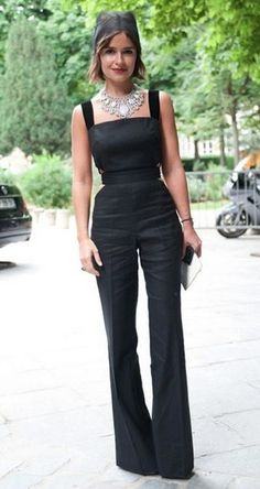 Miroslava Duma - Summer Look. Love the combination of that neckline with that necklace, the shapes really offset each other