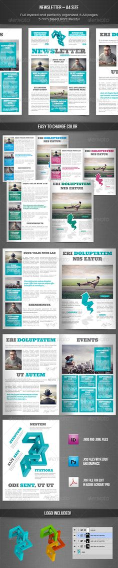 10 Best InDesign Newsletter Templates Graphic Design Pinterest - company newsletter template free