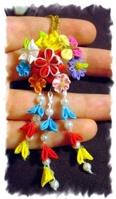 Mini kanzashi 2 by EruwaedhielElleth.deviantart.com