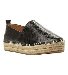 STEVE MADDEN Pacificc snake-print espadrilles (Black-synthetic reptile