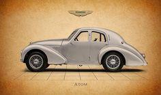 Aston Martin Atom Print By Mark Rogan